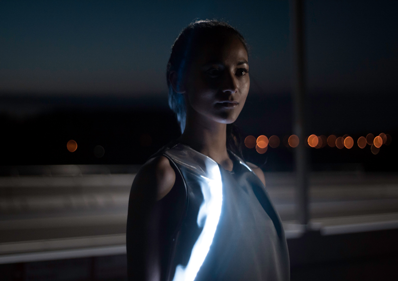 Dispositivi LED wearable per la sicurezza dei runners notturni